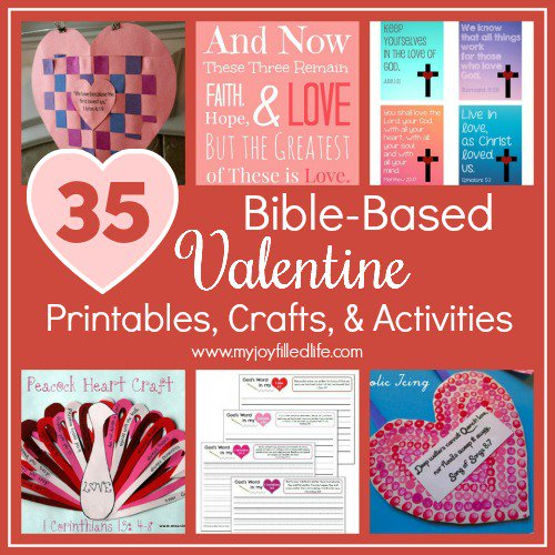 35 Bible-Based Valentine Printables, Crafts, & Activities